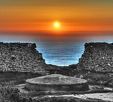 Sunset at Bottallack Mines by Rob Hawkins
