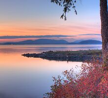 Sunset on Padilla Bay by Dale Lockwood
