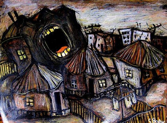 screaming building by glennbrady