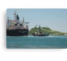 PACIFIC TRIANGLE CARGO SHIP - Newcastle NSW Australia Canvas Print