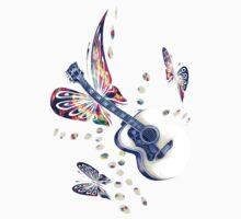 Butterfly Guitar2 by Miraart