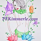 Purple Spring Beauty (Watercolor) by Patricia Feaster-Kimmerle