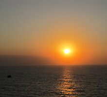 Sunset in Puerto Vallarta with a Frigate Bird, Mexico - puesta del sol by PtoVallartaMex