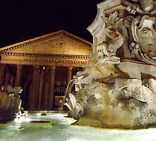 The Pantheon at night, Rome, Italy by graceloves