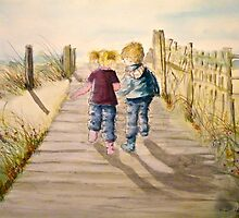 Cadey and Charlie by Lesley Rowe