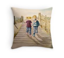 Cadey and Charlie Throw Pillow