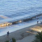 Fisher man in the morning sun at the Malecón of Puerto Vallarta by PtoVallartaMex