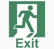 Exit sign Kids Clothes