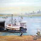 Crayfish Trawlers at Saldanha Bay by Marie Theron