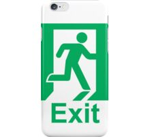 Exit sign iPhone Case/Skin