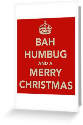 merry christmas bah humbug