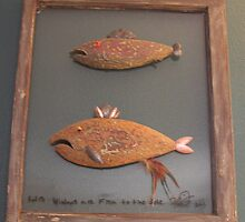 "Windows are fish to the sole 5 of 13. 23"" x 28"" $300.00 for original by Fred Weiler"
