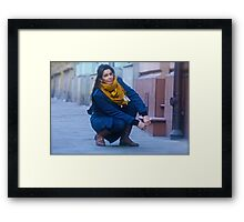 Adi !!!!  Street photography . Canon EF-70-200 mm f/4 + Canon Extender EF 2 x III by Brown Sugar . Views (103) favorited by (2)  thx! thank you !  Framed Print