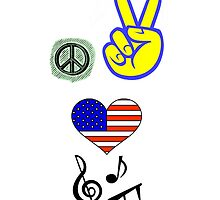 Peace Love Music by eggnog