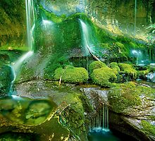 Rainforest Cascades, Tasmania by Kevin McGennan