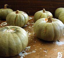 On the shelf: sad pumpkins by Steve