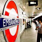 Wife riding the London Underground by scottseldon