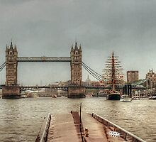 Waiting for Tower Bridge to open for us.......! by Roy  Massicks