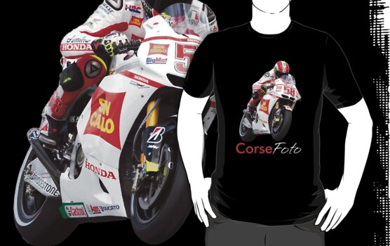 Marco Simoncelli T-Shirt/Sticker by corsefoto