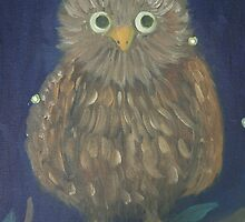 Owl and Fireflies by tammisponseller