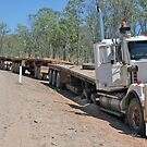 Roadtrain bogged on Gibb River Road by Romandar
