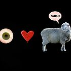 I love ewe - greeting card by Scott Mitchell
