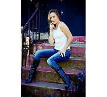 Tina in Blue Jeans-1 Photographic Print