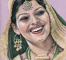 Indian Bride by Nicole Zeug