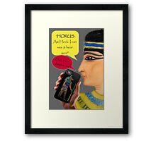Cleopatra goes iPhone Framed Print