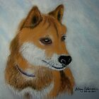 Krypto, the Shiba Inu by Hilary Robinson