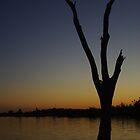 Sunset at Lake Mulwala, NSW by Andrejs Jaudzems