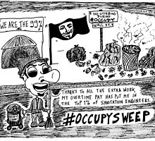 Occupy Sweep editorial cartoon by bubbleicious