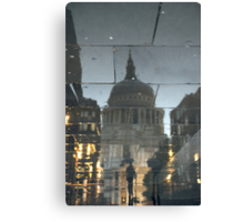 Rainy Night In The Shadow Of St Paul's Canvas Print