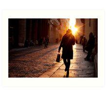 Pedestrians in Vicenza Art Print