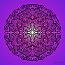 Mandala Drawing 21 PURPLE Prints, Cards & Posters by mandala-jim