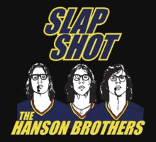 the Hanson Brothers from Slap Shot  ( the movie )  by BUB THE ZOMBIE