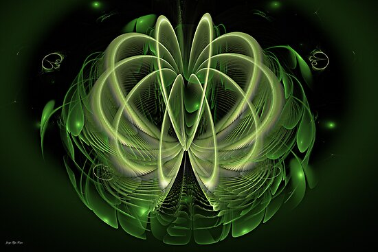 Going Green Abstract No1 by viennablue