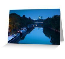 Houseboats on the Seine in Paris Greeting Card