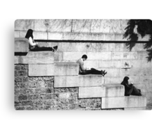 Chilling Out On The Banks Of The Seine Canvas Print
