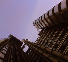 Lloyds London HQ from below by Chris Millar