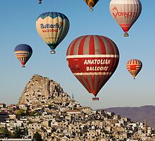 BALLOONS OVER UCHISAR by Michael Sheridan