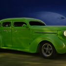 Chopped & Stretched -1937 Plymouth  by Mike Capone