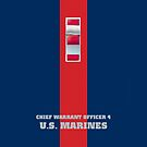 USMC W4 CWO4 Blood Stripe by Sinubis