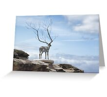 Sculptures by the Sea - The Deer Greeting Card