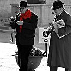 Italian Gentlemen-Bevagna, Italy by Deborah Downes