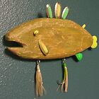 Key chain fish # 9 (SOLD) by Fred Weiler