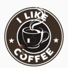 I Like Coffee by Royal Bros Art