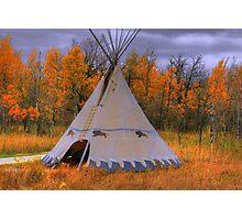 Plains Cree Teepee Photographic Print