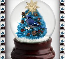 ˚✰˚ ˛★* 。 ˛CHRISTMAS TREE BLUE JAY SNOW GLOBE  ˚✰˚ ˛★* 。 by ╰⊰✿ℒᵒᶹᵉ Bonita✿⊱╮ Lalonde✿⊱╮