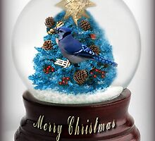 ˚✰˚ ˛★* 。 ˛CHRISTMAS TREE BLUE JAY SNOW GLOBE #2 ˚✰˚ ˛★*  by ╰⊰✿ℒᵒᶹᵉ Bonita✿⊱╮ Lalonde✿⊱╮